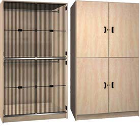 Ironwood Solid & Grill Door Wardrobe Storage Cabinet
