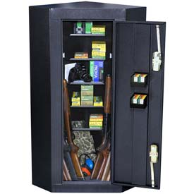 Homak Corner 10 Gun Steel Security Cabinet