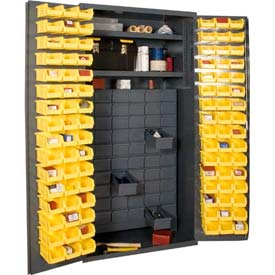 All-Welded 14 Gauge Small Parts Storage Bin Cabinets