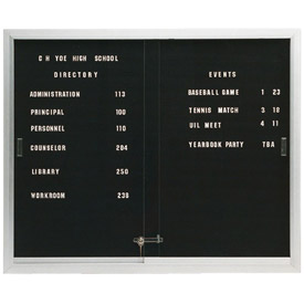 Indoor Non-Illuminated 2-3 Door Letter Boards