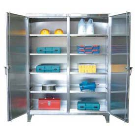 Stronghold® Stainless Steel Double-Door, Independent Locking Cabinets