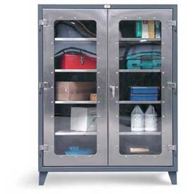 Stronghold® Stainless Steel Clearview Cabinets