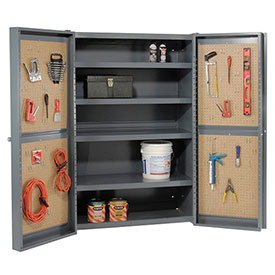 All-Welded 12 Gauge Heavy Duty Storage Cabinets With Pegboard