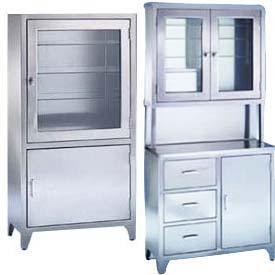 Exceptional Blickman Freestanding Medical Cabinets