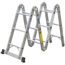 Werner® Aluminum Folding Multi Ladder