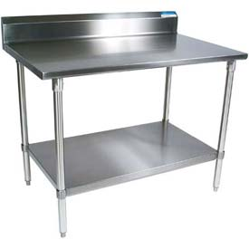 5 Inch Backsplash - Stainless Steel Work Table