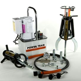 Posi-Lock™ 3 Jaw Hydraulic Pullers With Electric Pumps