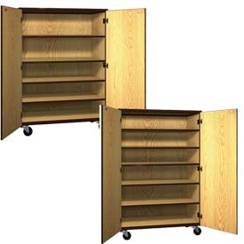 Ironwood Mobile Wood General Storage Cabinets