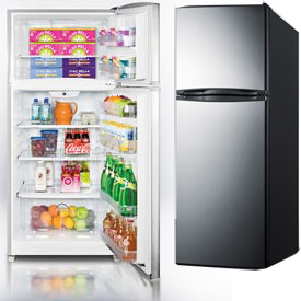 Summit Stainless Steel Frost-Free Refrigerator-Freezers