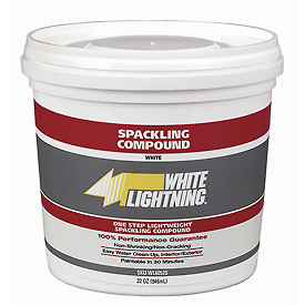 White Lightning® One Step Lightweight Spackling Compound