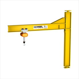 Gorbel® Heavy Duty Mast Type Jib Cranes - Drop Cantilever 4000 lb. to 6000 lb. Capacity