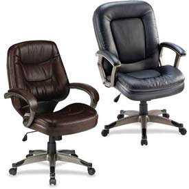 Lorell® Executive And Managerial Leather Upholstered Seating