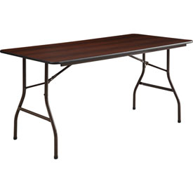 Lorell® Economy Melamine Top Folding Tables