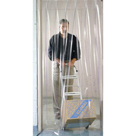 Strip door curtains