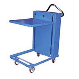 Vestil Self-Elevating Post-Style Mobile Spring Lift Work Positioning Tables