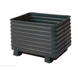 Steel King® Round Corner Corrugated Steel Containers
