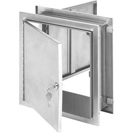 Omnimed® Stainless Pass-Thru Lockable Cabinet