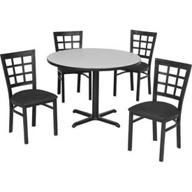 Premier Hospitality Furniture - Table & Window Pane Back Chair Set