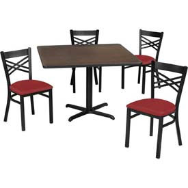 Premier Hospitality Furniture   Table U0026 Criss Cross Back Chair Set