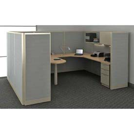 Compatico - CMW Pre-Configured Office Partitions and Cubicles - Includes Worksurfaces and Accessories