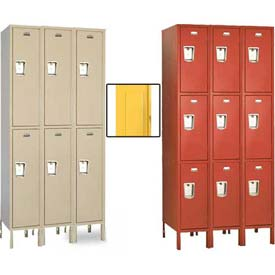 Penco Guardian Medallion Double and Triple Tier 3-Wide Steel Lockers