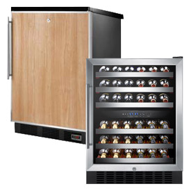 Built-In Freestanding Beer & Wine Storage