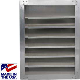 Fixed Height Adjustable Louvers