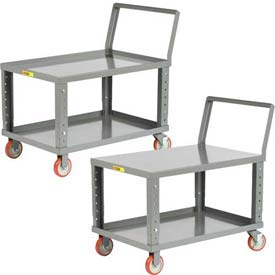 Little Giant® Ergonomic Adjustable Height Shelf Trucks