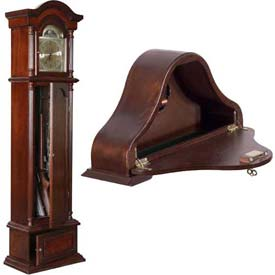 American Furniture Classics Wood Decorated Clock Gun Storages