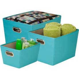 Decorative Storage Bin With Handles