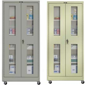 Hallowell Ventilated Door Mobile Storage Cabinets