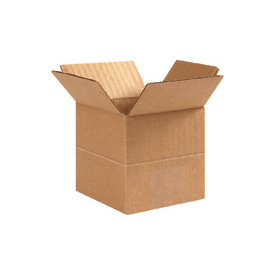 "Multi-Depth Heavy-Duty Cardboard Corrugated Box 26"" x 26"" x 26""-20""-18""-16""- 14""-12""-10"" - 10 Pack"