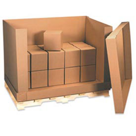 """Doublewall Corrugated Box D Container 58"""" x 41"""" x 45"""" 350lb. 4 Pieces"""