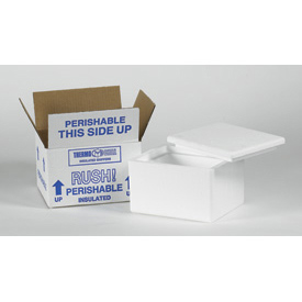 Insulated Container Kits 8 x 6 x 7 200lb. Test, Pack of 8