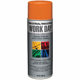 Krylon Industrial Work Day Enamel Paint Orange - A04413 - Pkg Qty 12