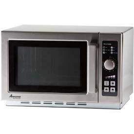 Amana RCS10DSE Commercial Microwave, 1.2 Cu. Ft., 1000 Watt, 10-Minute Dial by