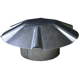 "Speedi-Vent 3"" Galvanized Umbrella Roof Vent Cap EX-RCGU 03"