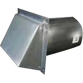 Speedi-Products Galvanized Wall Caps With Spring Damper SM-RWVD 4 4""