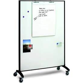 "Quartet Motion™ Room Divider, Double Sided, 36""W x 72""H"
