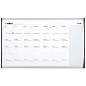 "Quartet® Arc™ Cubicle Whiteboard Calendar, 30""W X 18""H, Magnetic, Aluminum Frame"