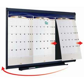 "Quartet® Prestige Three-Month Calendar, 36""W x 24""H, Total Erase Surface, Modular"
