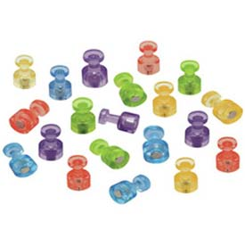 Quartet® Magnetic Push Pins, High Power Magnets, Bright Colors, 20/Set - Pkg Qty 12