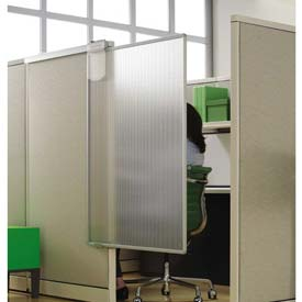 "Quartet® Workstation Privacy Screen, 36""W x 64""H, Sliding, Partial Length"