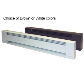 "TPI 96"" Architectural Style Electric Baseboard Heater F3720096 - 2000W 208V White"