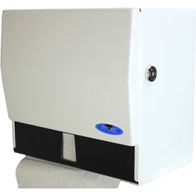 Frost Universal Towel Dispenser W/Lock - White Epoxy - 101-1