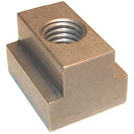 "Imported T-Slot Nut 3/8-16 Thread For 1/2"" Table Slot, Heat Treated Steel"