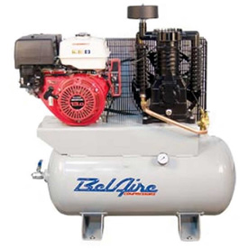 Belaire 8090250036 Honda Gasoline Driven Horizontal Air Compressor, 11HP, 30 Gallon by