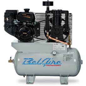 Belaire 8090250039 Kohler Gasoline Driven Horizontal Air Compressor, 14HP, 30 Gallon by
