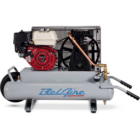Belaire 8090250705 Contractor Series Honda Gasoline Driven Air Compressor, 5.5HP, 2 x 4 Gallon by