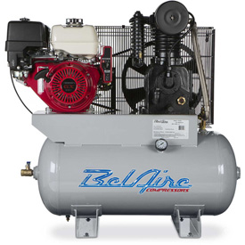 Belaire 8090253116 Iron Series Honda Gasoline Driven Horizontal Air Compressor, 13HP, 30 Gallon by